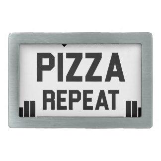 Squats Pizza Repeat Belt Buckle