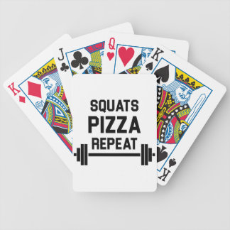 Squats Pizza Repeat Bicycle Playing Cards