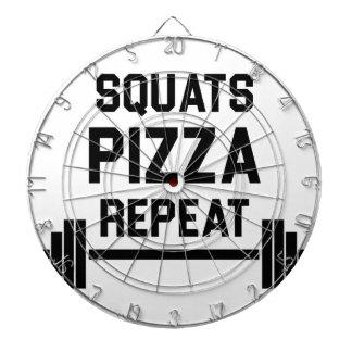 Squats Pizza Repeat Dartboard
