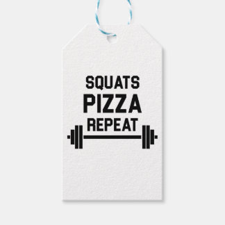 Squats Pizza Repeat Gift Tags