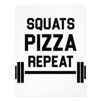 Squats Pizza Repeat Letterhead
