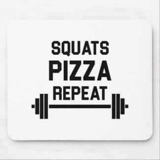 Squats Pizza Repeat Mouse Pad