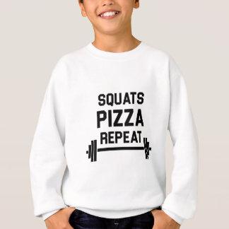 Squats Pizza Repeat Sweatshirt