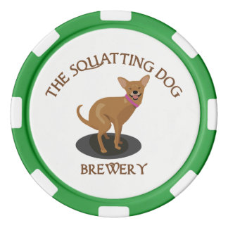 Squatting Dog Brewery Poker Chips