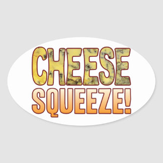 Squeeze Blue Cheese Oval Sticker