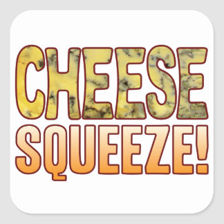 Squeeze Blue Cheese Square Sticker