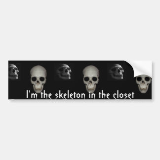 Squelette Dans Cabinet Personnalis Autocollant Pour Voiture