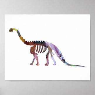 squelette de camarasaurus poster