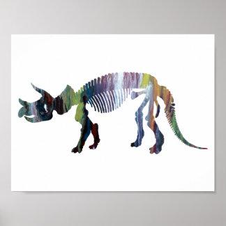 Squelette de prorsus de Triceratops Poster