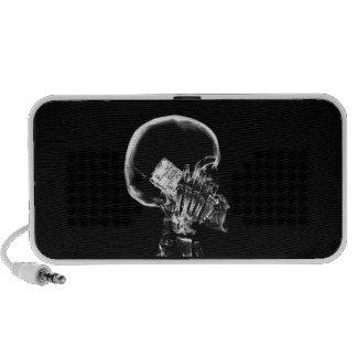 SQUELETTE DE RAYON X AU TÉLÉPHONE - B&W HAUT-PARLEURS iPod