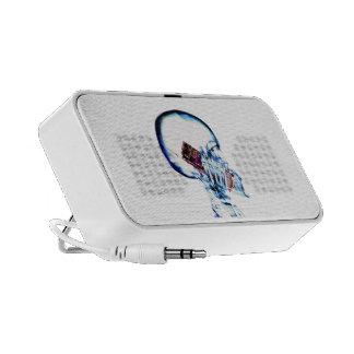 SQUELETTE DE RAYON X AU TÉLÉPHONE PORTABLE HAUT-PARLEURS iPod