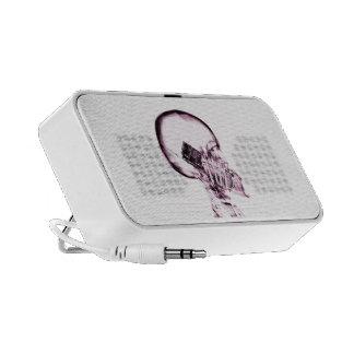 SQUELETTE DE RAYON X AU TÉLÉPHONE - ROSE HAUT-PARLEUR iPod