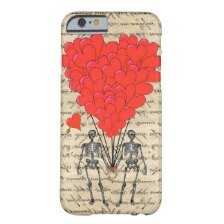 Squelette vintage drôle et coeur rouge coque barely there iPhone 6