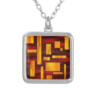 Squesmios V1 - squarefire Silver Plated Necklace