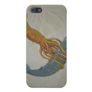 Squid and Whale Design IPhone Case