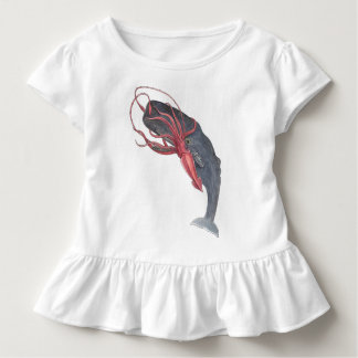 Squid and Whale Toddler Ruffle Tee
