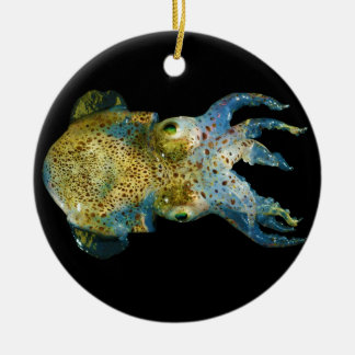 Squid Bobtail Dumpling Stubby Sepiola Atlantica Ceramic Ornament