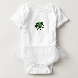 squid kid green baby bodysuit