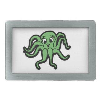 squid kid green rectangular belt buckle