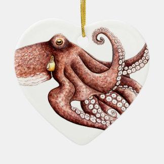 Squid - Octopus vulgaris Ceramic Ornament
