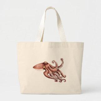 Squid - Octopus vulgaris Large Tote Bag
