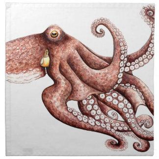 Squid - Octopus vulgaris Napkin