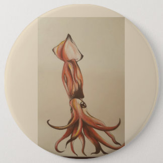 Squid out of Water 6 Inch Round Button