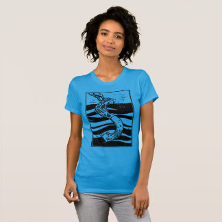 Squid Sinking Ship T-Shirt