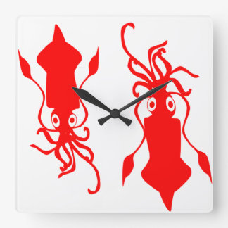 Squid Square Wall Clock
