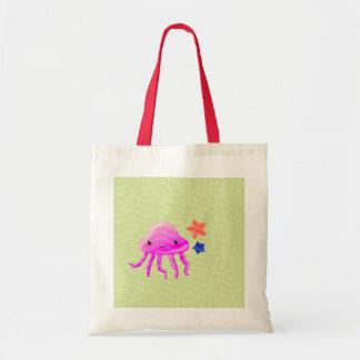 squid star fish hot summer canvas bag