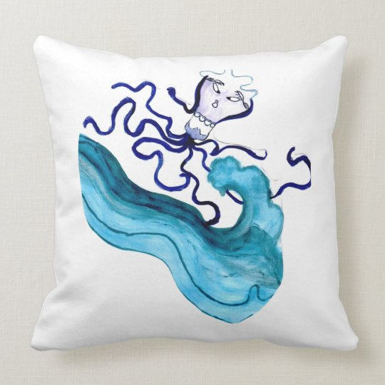 Squid Throw Pillow