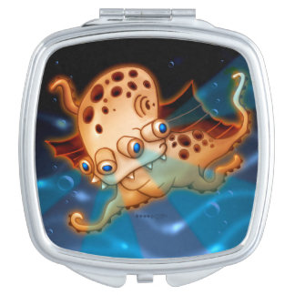 SQUIDDY ALIEN MONSTER CARTOON compactmirror SQUARE Makeup Mirrors