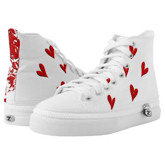 Squiggle and Hearts High Tops