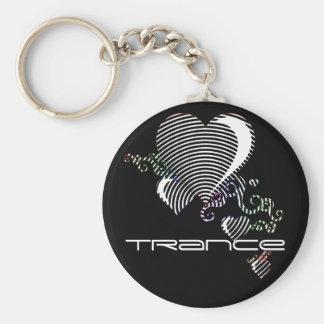squiggle hearts. trance. keychain