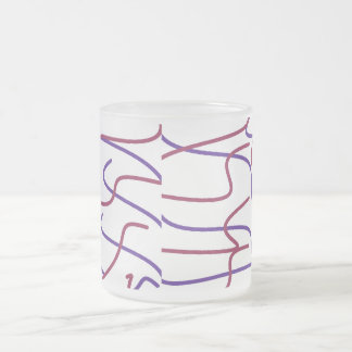 Squiggle Lines Frosted Mug