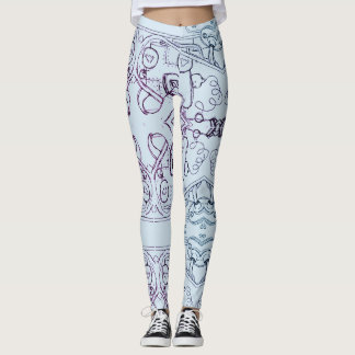 squiggles leggings by DAL