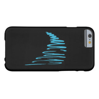 Squiggly Lines_Go with the flow_aqua blue on black Barely There iPhone 6 Case