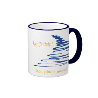 Squiggly Lines_Just Cruisin' namedrop template Ringer Mug