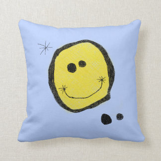 Squiggly Smiley Pillow