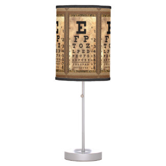 Squint Vintage Eye Chart Table Lamp