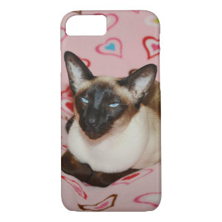 Squinting Siamese Cat iPhone 7 Case