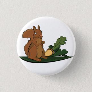 Squirrel 1 Inch Round Button