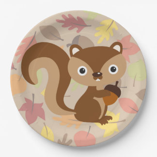 Squirrel 9 Inch Paper Plate