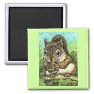 Squirrel and acorn magnet