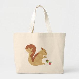 Squirrel and Acorns Tote