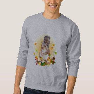 Squirrel and Fall Leaves Sweatshirt