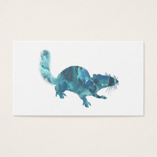 Squirrel art business card