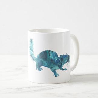 Squirrel art coffee mug