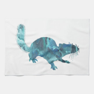 Squirrel art kitchen towel