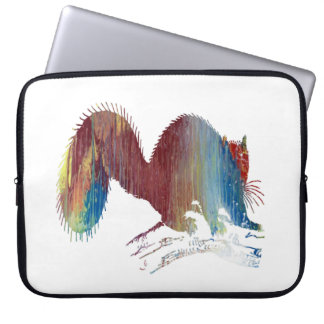 Squirrel art laptop computer sleeve